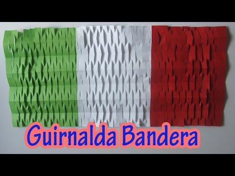 Manualidad : Decoracion de Fiestas Patrias | Guirnalda bandera - Flag garland