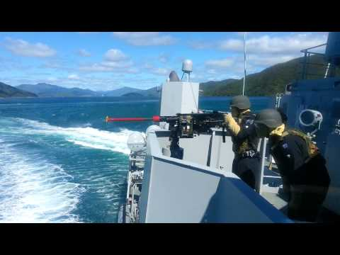 HMNZS Otago P148 enemy boat attack