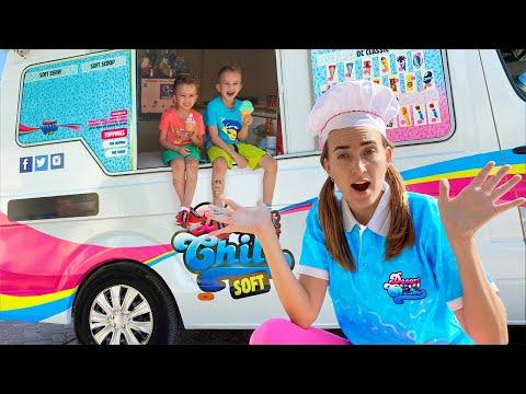 Vlad and Nikita in the Mom's Ice Cream Truck