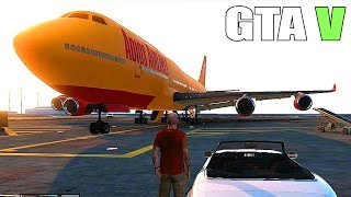 Grand Theft Auto V How To Get A Big Plane, Military Base