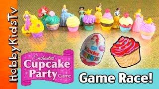 Cupcake Party Race! Disney Game HobbyDad Challenges