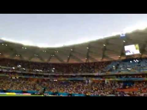 Football World Cup 2014 Brazil : England National Anthem vs Italy : Live Manaus