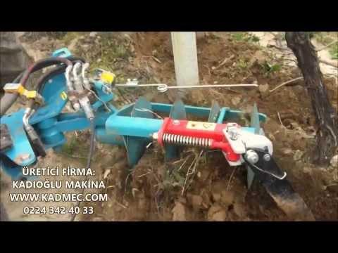 Duyargalı bağ bahçe omca çapalama makinası