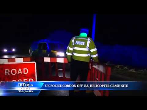 UK Police Cordon Off US Helicopter Crash Site