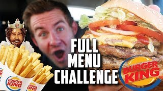 "THE ""SUPERCHARGED"" BURGER KING MENU CHALLENGE!"