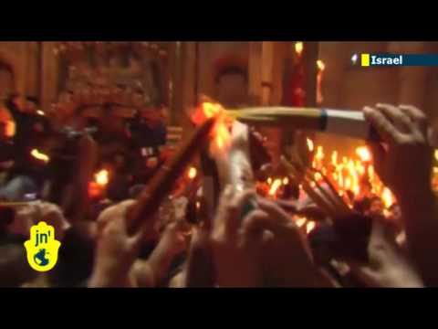 Easter in Jerusalem: Christians celebrate Holy Fire ceremony in Israel