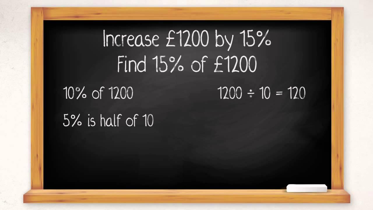 percentage increases.
