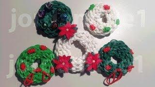How To Make A Rainbow Loom Christmas Holiday Wreath Charm