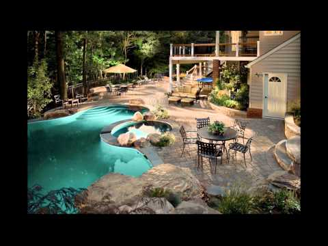 Dise o de jardines modernos con piscina hd 3d arte y - Diseno de piscinas naturales ...