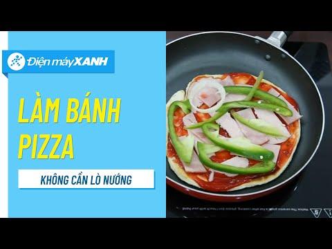 Cách làm pizza không cần lò nướng