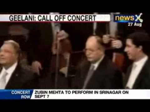 NewsX: Hurriyat Chief objects to Zubin Mehta's concert in Srinagar