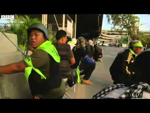 ข่าวจาก BBC News   Thai poll  Several wounded in Bangkok pre election shooting