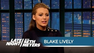 Blake Lively Totally Froze When She Met President Obama - Late Night with Seth Meyers