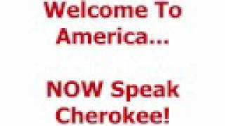 Cherokee language lesson welcome to america