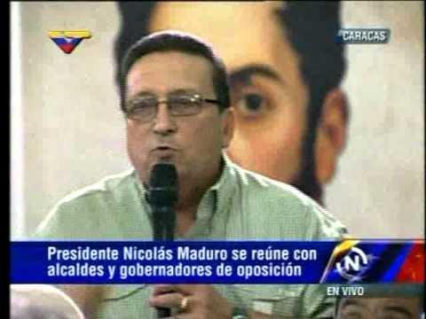 Mervin Méndez, alcalde de Lagunillas en reunión con Maduro
