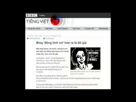 13-06-2011 - BBC Vietnamese - Blog 'đồng tính nữ' hóa ra là đồ giả