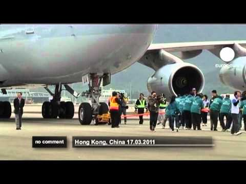 """Aircraft Pull"" event in Hong Kong - no comment"