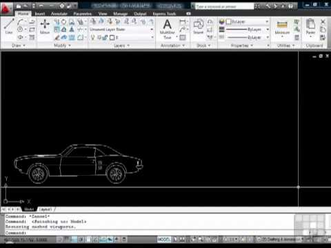 AutoCAD Model space and Paper Space Tutorial - YouTube