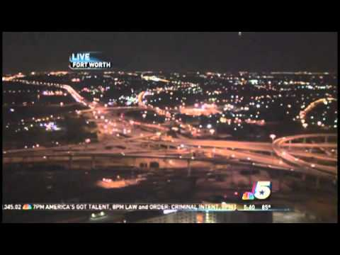 UFO spotted in LIVE NBC News SkyCam at Fort Worth, TX