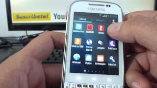 Como Usar La Camara Frontal De Samsung Galaxy Chat B5330