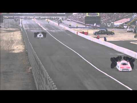 Cruz Pedgregon backfired @ 2014 NHRA Ponoma