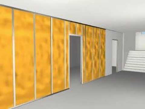 Montaż ściany działowej dwuwarstwowej z płyt gipsowo-kartonowych
