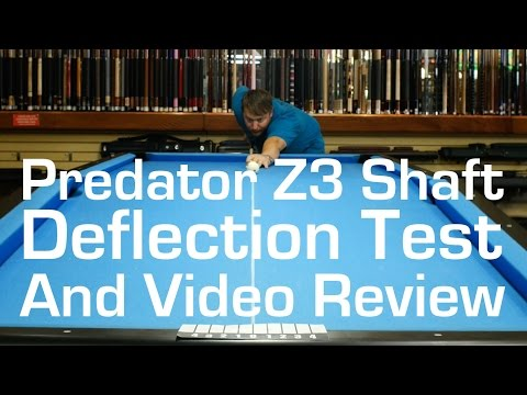 Predator Z 3 Deflection Test - Video Review by Select Billiards