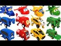 Super Wings have friends Dinosaurs animals auto transforming car Carnimals appeared DuDuPopTOY