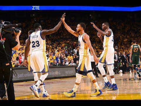 Warriors le pasó por encima al Jazz y pegó primero en la serie
