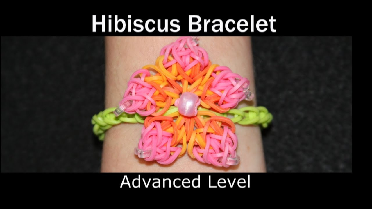 rainbow loom174 hibiscus bracelet youtube
