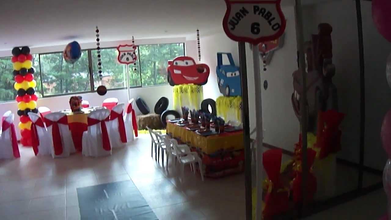 Decoracion Infantil De Cars ~ FIESTAS TEMATICAS INFANTIL CARS FEBRERO 4 2012  YouTube