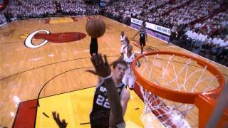 [Lebron James Insane Block 2013 - Slow Motion]