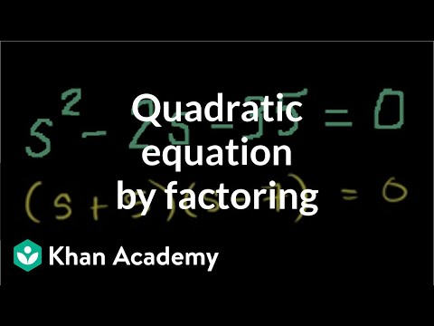 Solving Quadratics by Factoring