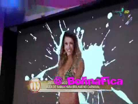 TV FAMA - Mônica Apor no desafio do samba com as Panicats - @_BolinaFica