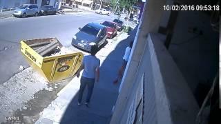 Vídeo mostra acidente no centro de Camaquã