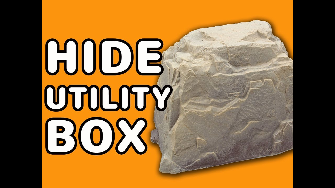 Dekorra model 104 big fake rock cover hide utilty box for Landscape rock utility cover