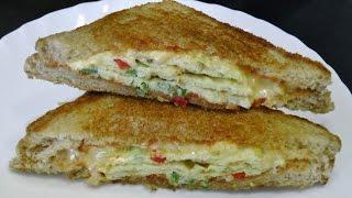 Omelette Sandwich - Quick & Easy Breakfast recipe