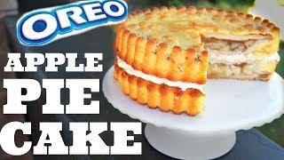 Giant OREO APPLE PIE CAKE - apple pies INSIDE a cake