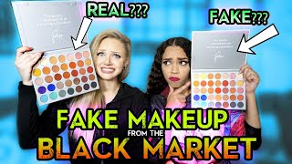 TESTING OUT FAKE MAKEUP FROM THE BLACK MARKET