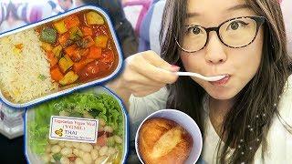 Vegetarian Airplane Food on Thai Airways ► from Bangkok to Bali