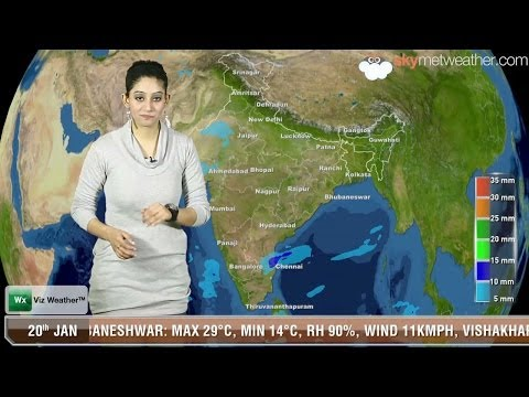 20/01/14 - Skymet Weather Report for India