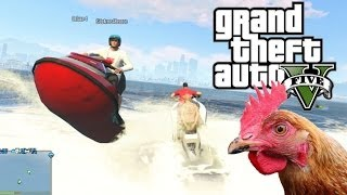 GTA 5 Jet Ski Chicken Stunt! (GTA 5 Funny Moments & Water Stunts With The Crew!)