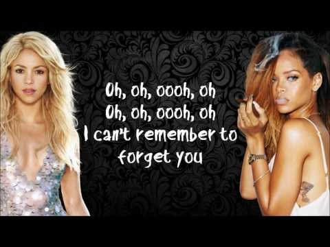Shakira - Can't Remember To Forget You [Karaoke / Instrumental] feat. Rihanna with lyrics