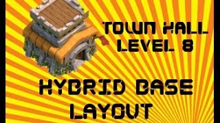 Clash Of Clans Best TH8 Hybrid War Base Layout