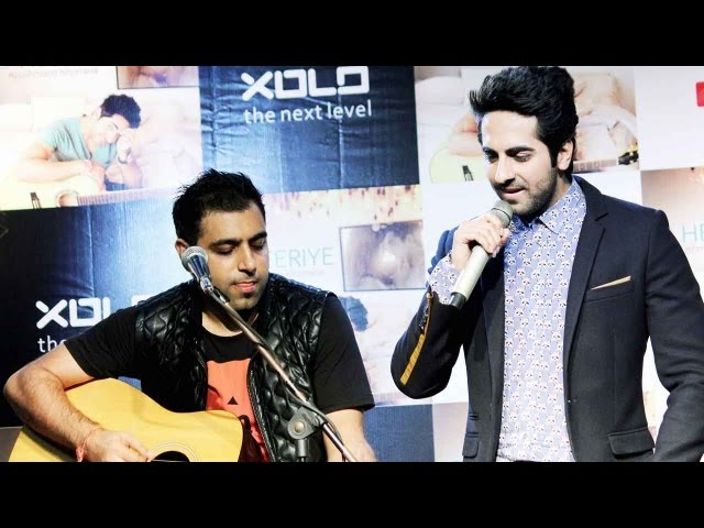 "Ayushmann Khurrana launches his new music album ""O Heeriye"""