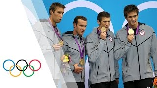 Michael Phelps' Final London 2012 Race - Men's 4 x 100m Medley | London 2012 Olympic Games