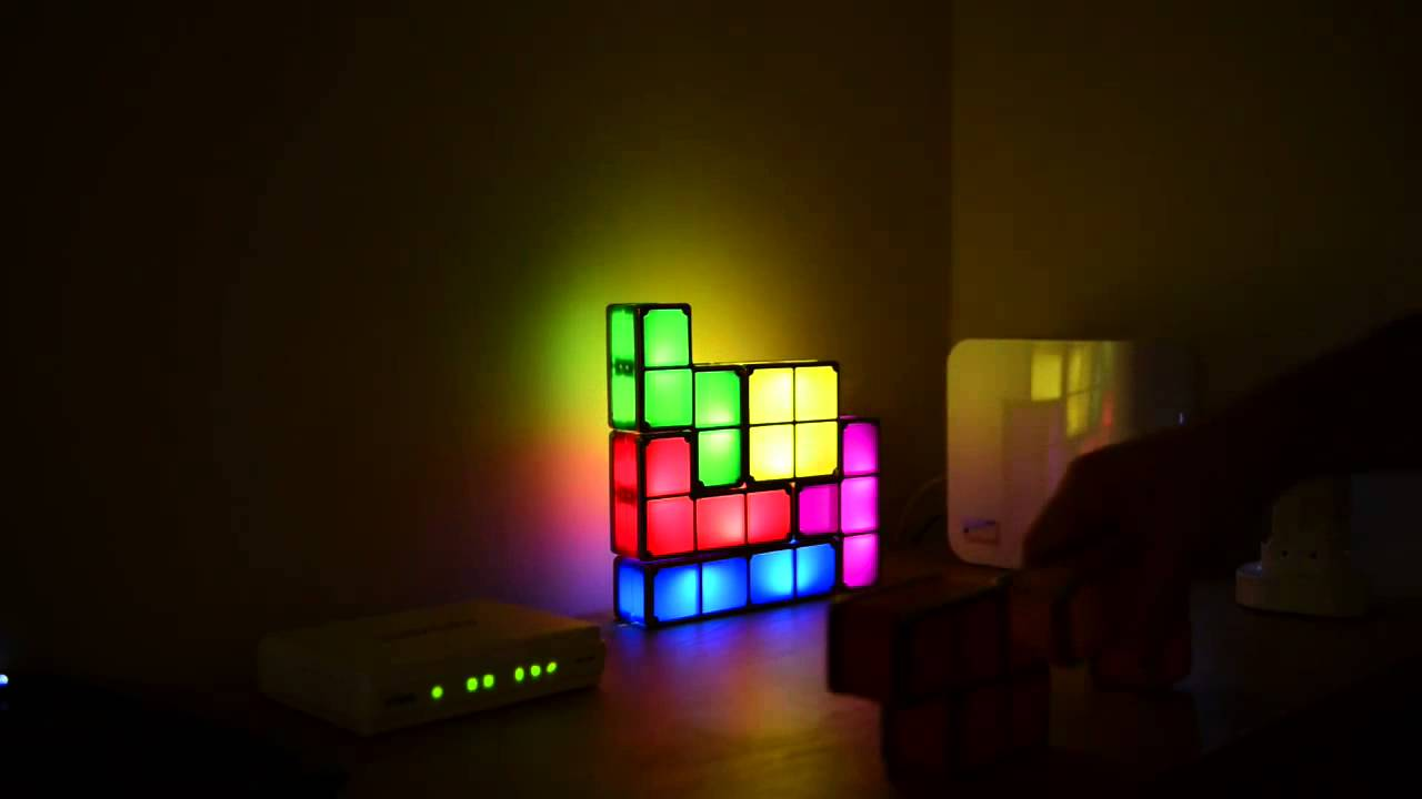 tetris stackable led desk lamp on youtube. Black Bedroom Furniture Sets. Home Design Ideas