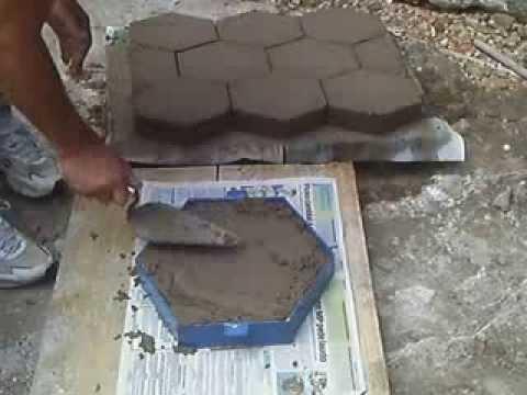 Forma de concreto para jardim