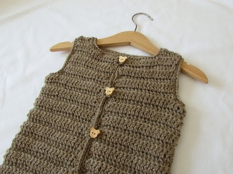 How to crochet an easy ribbed vest / sweater - any size