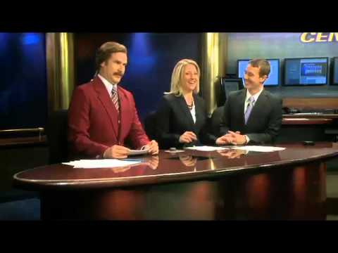 Ron Burgundy at North Dakota TV newscast